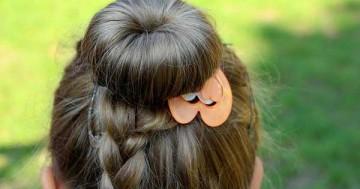 Hochgesteckte Haare - ideal für kleine Frauen